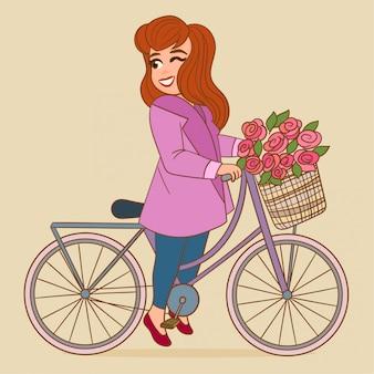 Mädchen fahren fahrrad