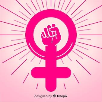 Mädchen faustsymbol