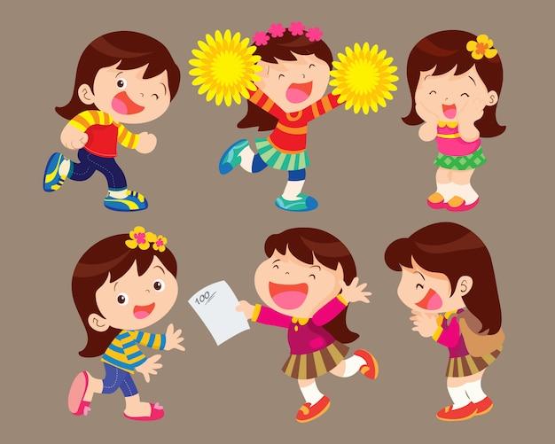 Mädchen glücklich
