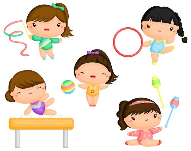 Mädchen gymnastik