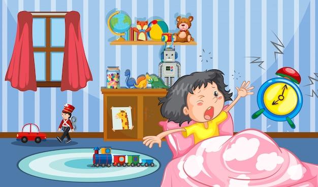 Mädchen im schlafzimmer