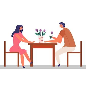 Mädchen kerl verbringt zeit zusammen romantisches date
