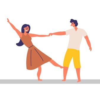Mädchen kerl verbringt zeit zusammen tanzen