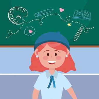 Mädchen kind der schule