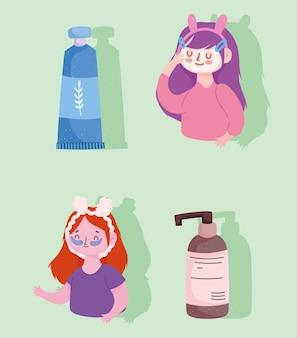 Mädchen kosmetik hautpflege gesichtsmaske