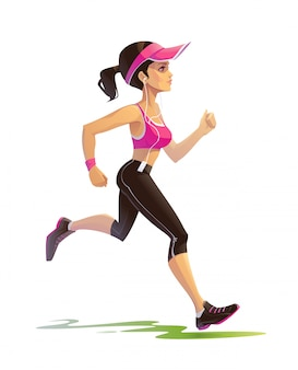 Mädchen läuft