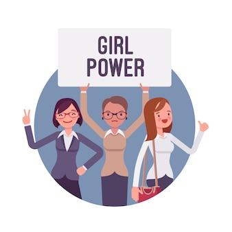 Mädchen macht plakat