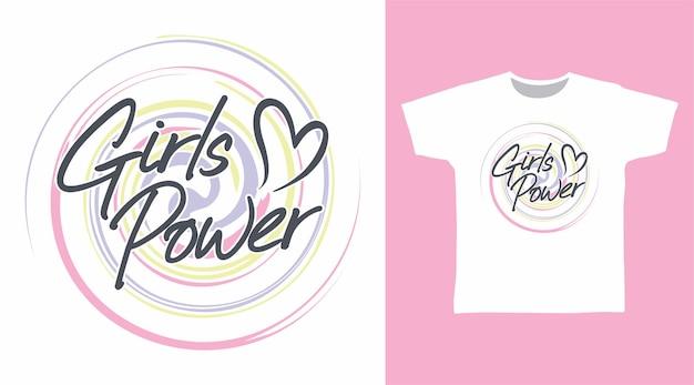 Mädchen macht typografie-t-shirt-design