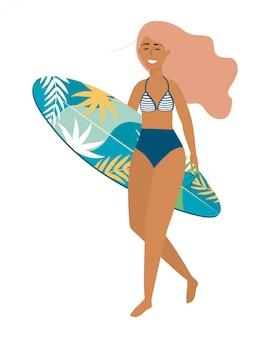 Mädchen mit badebekleidung