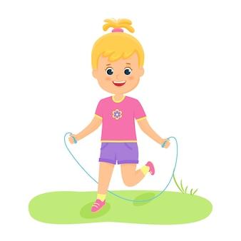 Mädchen mit einer pulloverillustration