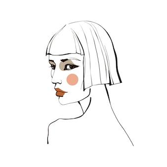 Mädchen mit kurzen haaren