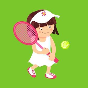 Mädchen mit tennisschläger