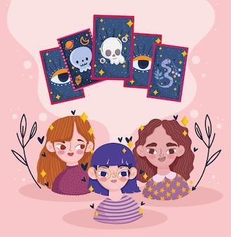 Mädchen mit vorhersage-tarot