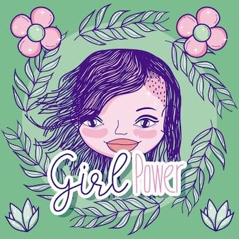 Mädchen power cartoon