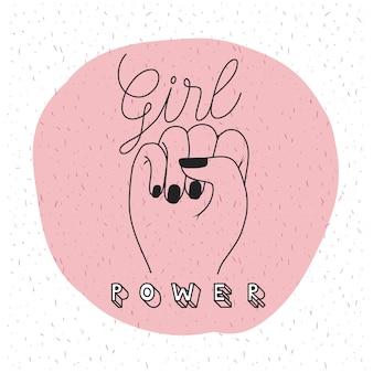 Mädchen power emblem