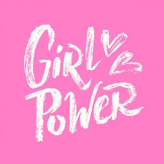 Mädchen power schriftzug