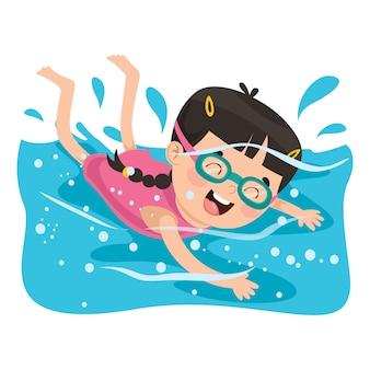 Mädchen schwimmen