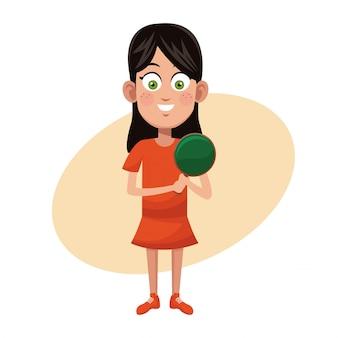 Mädchen sport ping pong üben