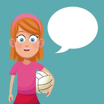 Mädchen sport spiel volleyball