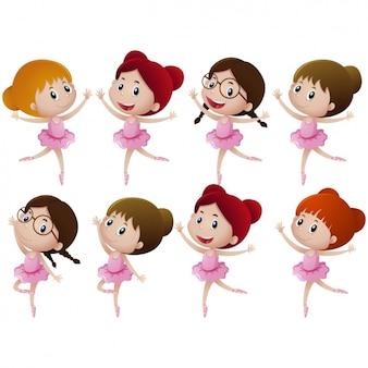 Mädchen tanzen sammlung