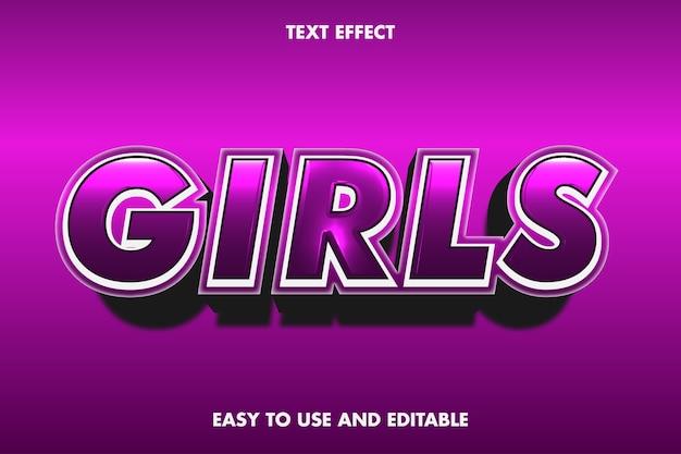 Mädchen-texteffekt.