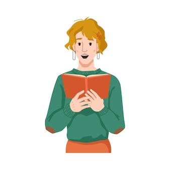Mädchen überrascht vom lesen der frau mit buch