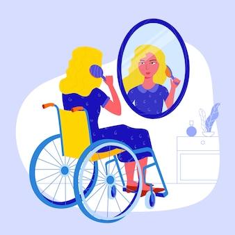 Mädchen und der spiegel