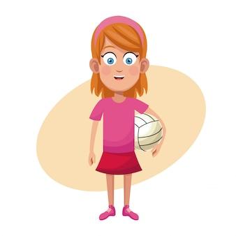 Mädchen volleyball sport praxis