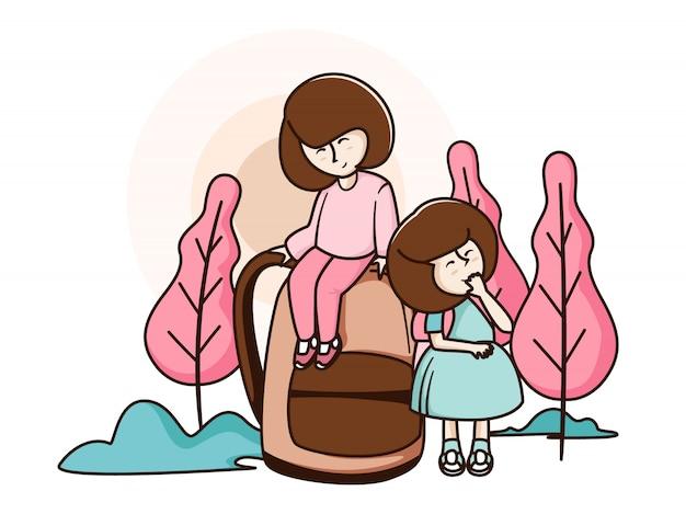 Mädchen zurück in die schule