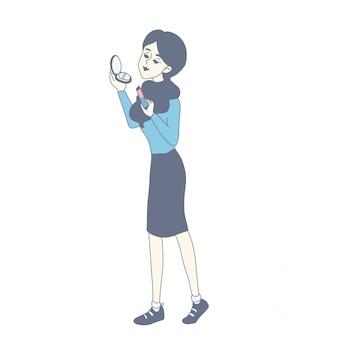 Mädchencharakterauslegung des vektors