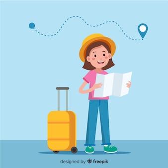 Mädchenreisender