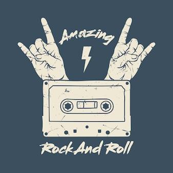 Mädchenrockert-shirt design. rock star stickerei patch-design-serie