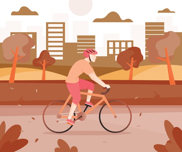 Männer mit fahrrädern im stadtpark