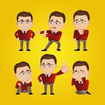 Männer mit verschiedenen posen-vektor