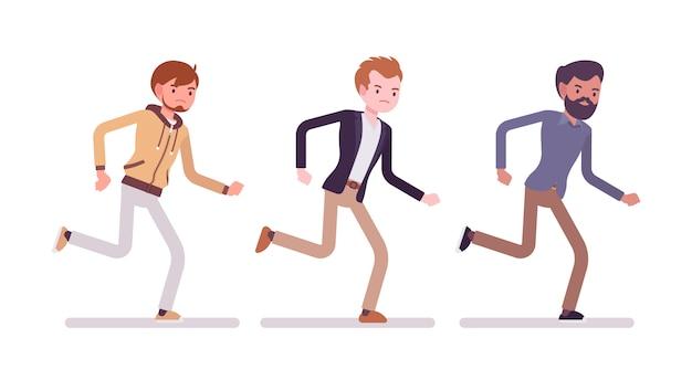 Männer nach vorne rennen