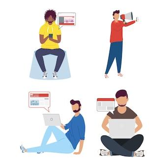 Männer online news tech charaktere