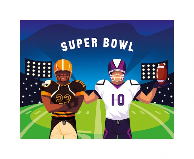 Männer spieler american football mit
