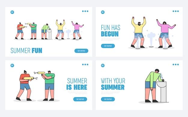 Männer und frauen haben spaß im sommer