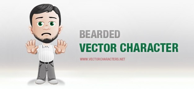Männlich vektor-zeichen mit einem bart