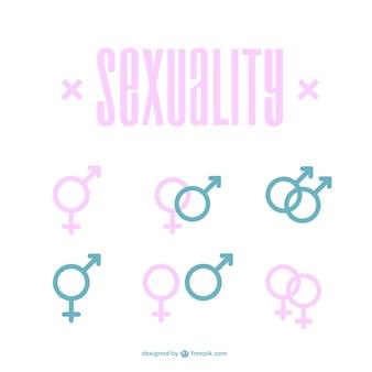 Männlich weiblich icons