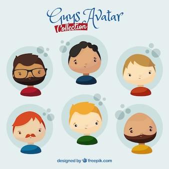 Männliche avatarsammlung