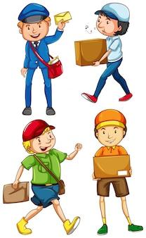 Männliche postmaster