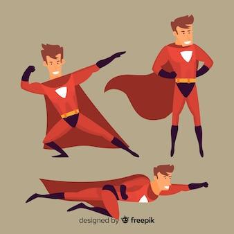 Männliche superhelden-set