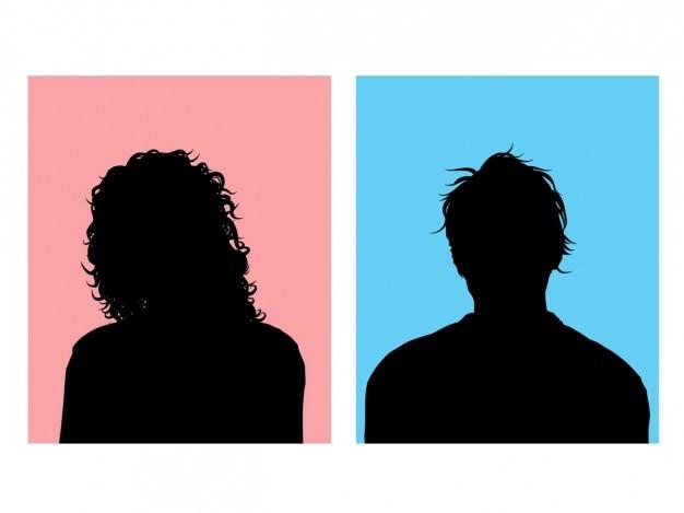 Männliche und weibliche avatare
