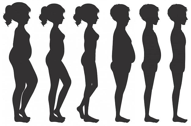 Männliche und weibliche körperumwandlung