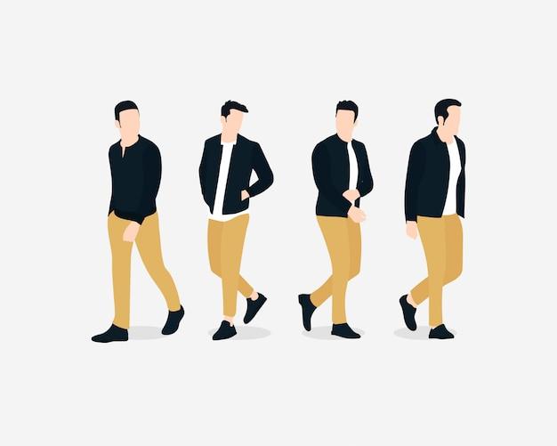 Männliche vorbildliche charaktere