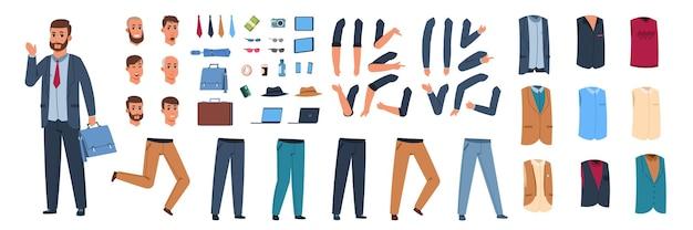Männliche zeichenkonstruktorillustration