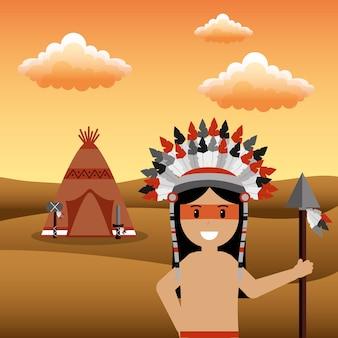 Männlicher amerikanischer ureinwohner