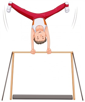 Männlicher gymnastikathletencharakter