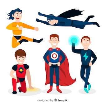 Männlicher superheld collectio